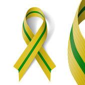Olive-green ribbon