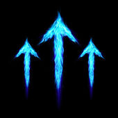 Three fire arrows