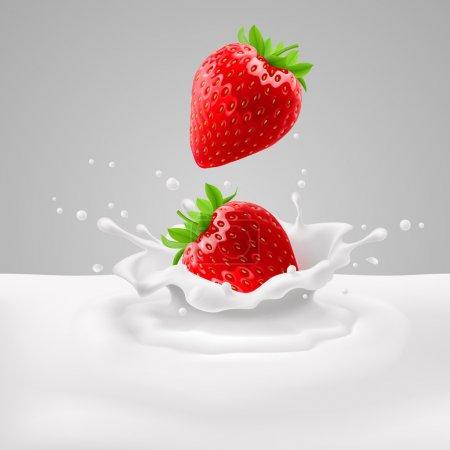 Strawberries with milk
