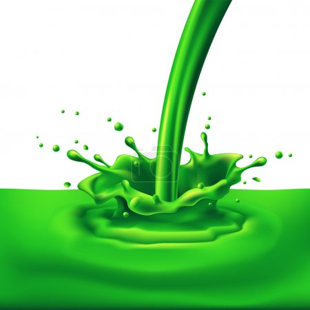Green paint splashing