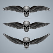 Three evil skulls with wings