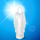 White angel against blue sky