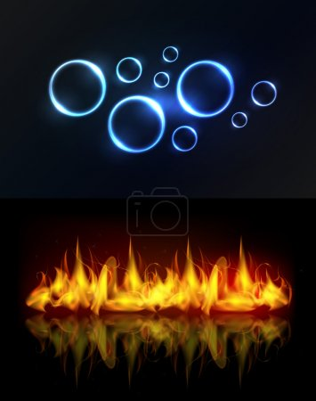 Water and fire background
