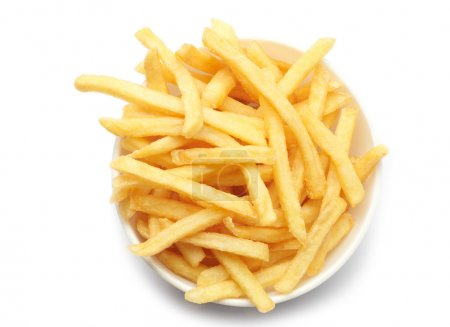 Photo for Bowl of french fries on white - Royalty Free Image