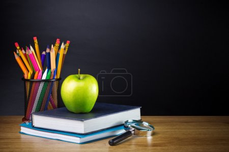 Photo for Schoolchild and student studies accessories - Royalty Free Image