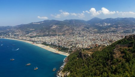 Alanya. Turkey. View of the city from fortress