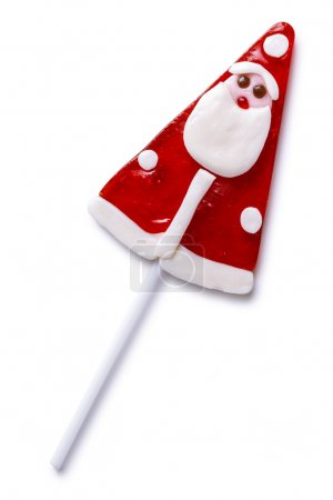 Photo for Christmas lollipop isolated on a white background - Royalty Free Image