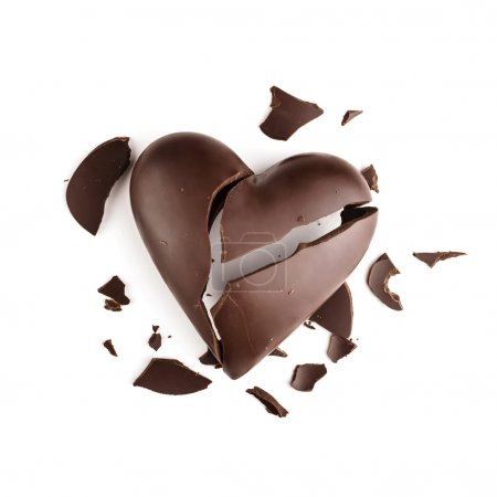 Photo for Chocolate broken heart - Royalty Free Image