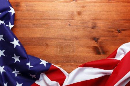Photo pour Drapeau des États-Unis avec copyspace - image libre de droit