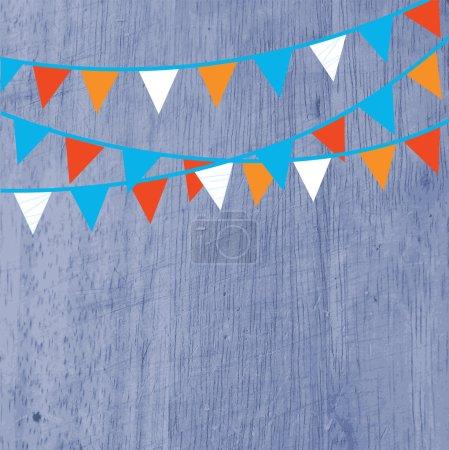 Ilustración de Fondo para el partido con banderas y textura - Imagen libre de derechos