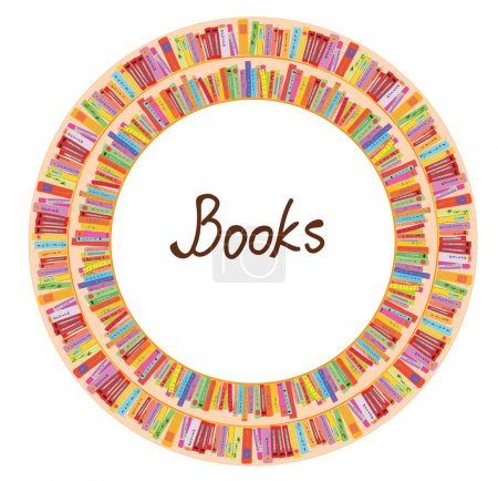 Book frame circle design