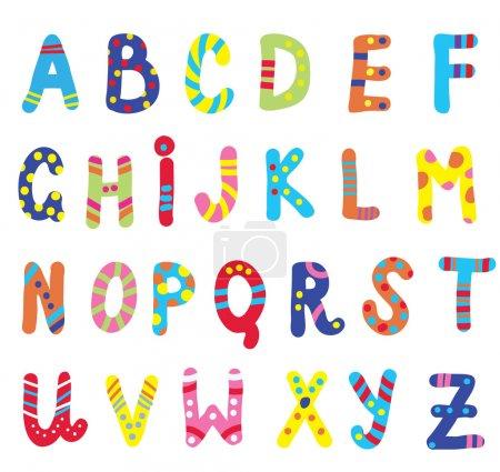 Illustration pour ABC design drôle enfants - image libre de droit
