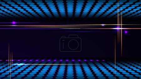 Party background with led display background and light frame.
