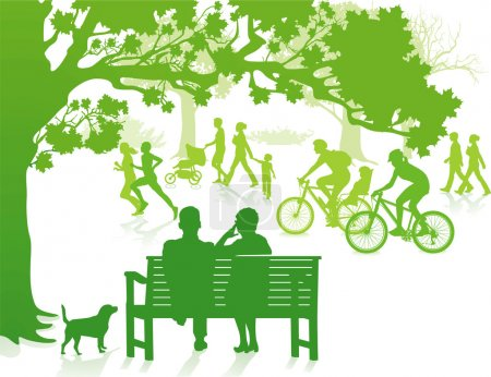 Illustration for Green in the City Park - Royalty Free Image
