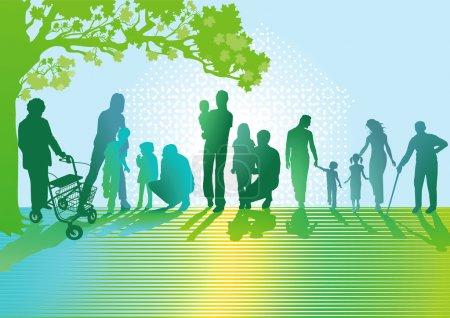 Generationen von Familien