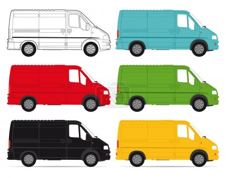 Illustration for Delivery Vans on white background - Royalty Free Image
