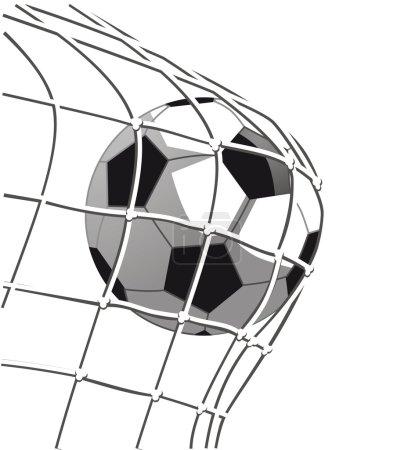 Illustration pour Objectif de football - image libre de droit