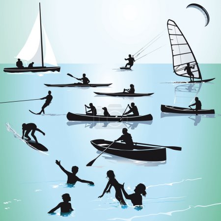 Illustration for Watersports and Bathing - Royalty Free Image