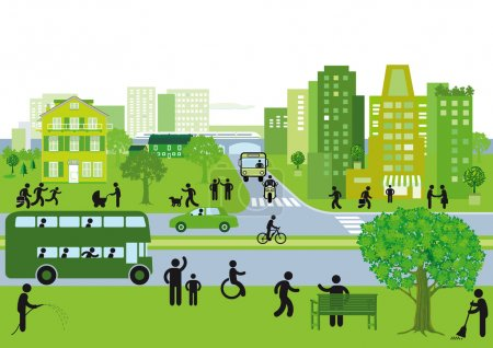 Illustration for Green city - Royalty Free Image