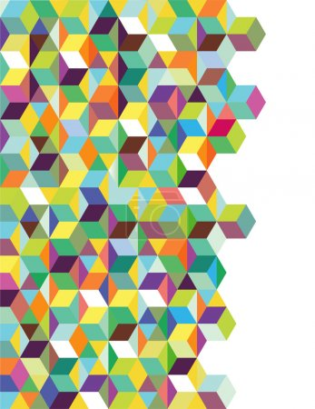 Abstract background with color dices