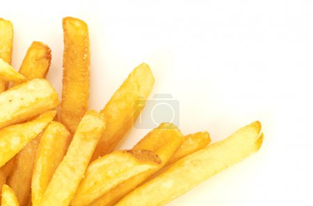 Photo for A pile of french fries isolated on white - Royalty Free Image
