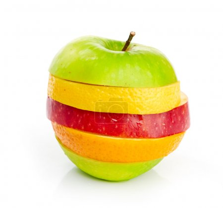 Photo for Mixed Fruit isolated on a white background - Royalty Free Image