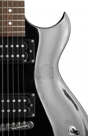 Photo for Electric guitar close-up on white - Royalty Free Image
