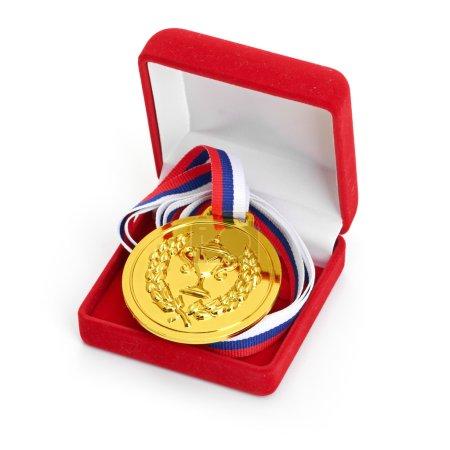 medal in gift box.