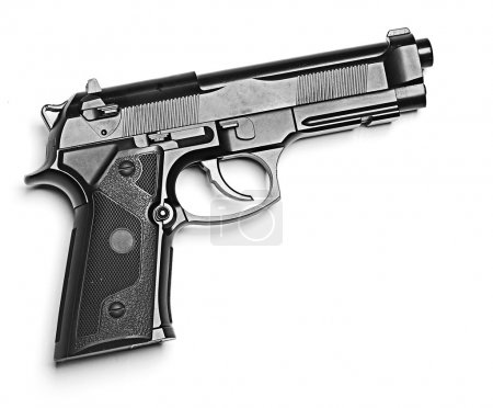 Gun on white background...