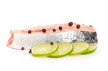 Salmon and lime