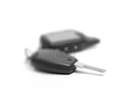 Photo pour Clé de voiture isolée sur fond blanc - image libre de droit