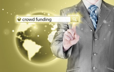 Crowd funding in search bar