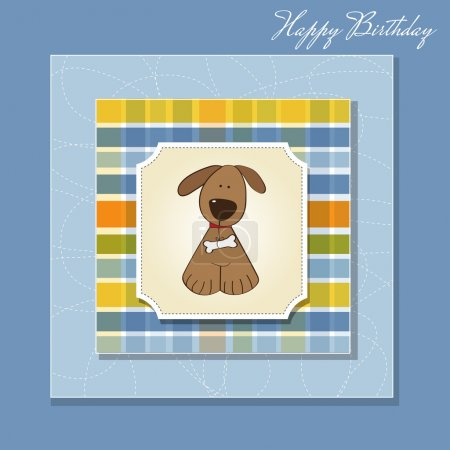 Greeting card with small dog...