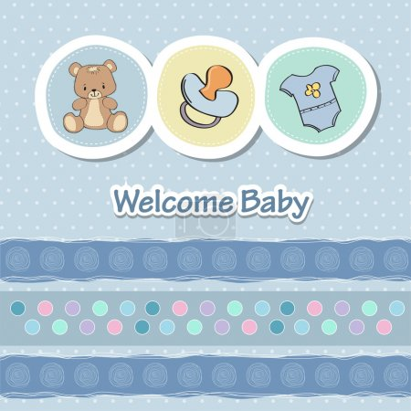 Illustration for Baby shower announcement - Royalty Free Image