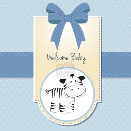 Cute baby shower card with zebra