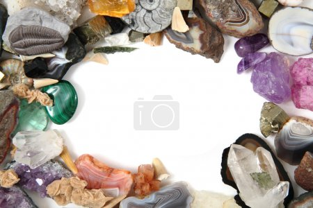 minerals and gems frame