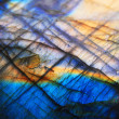 Labradorite mineral background (blue and yellow ty...