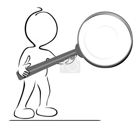 Illustration for Small with magnifying glass eps 10 - Royalty Free Image
