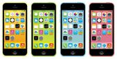 Apple iphone 5c color yellow green blue pink vector illustration eps 10