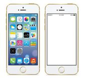 Apple iphone 5s gold vector illustration eps 10