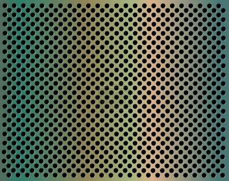 Illustration for Metal background with holes eps10 - Royalty Free Image