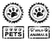 Vector - Black paw print eps 10