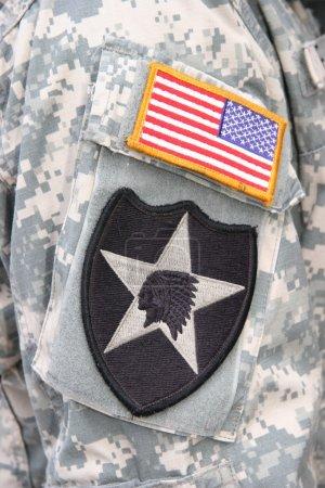 Photo pour Patch de chef indien de la 2e division d'infanterie de l'US army - image libre de droit