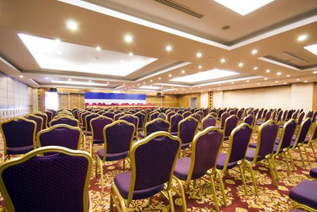 Photo for The luxury spacious meeting room of an upscale hotel - Royalty Free Image