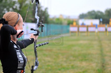 Photo for Archery targets on the field - Royalty Free Image