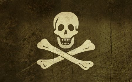 Grunge Jolly Roger flag
