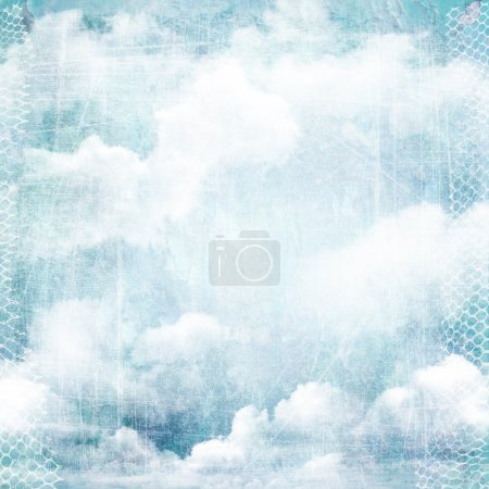 An abstract vintage texture background with clouds.