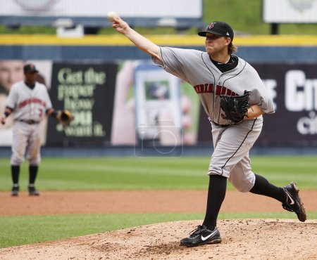 Indianapolis Indians pitcher Sean Gallagher throws