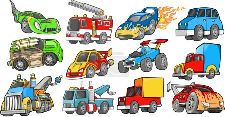 Illustration pour Ensemble vectoriel de véhicule de transport - image libre de droit