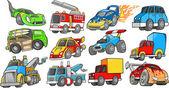 Transportation Vehicle Vector Set